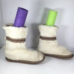 Woolrich Whitecap Boots Slipper Creme Size 8-9